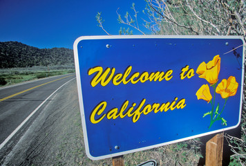 Wall Mural - Welcome to California Sign