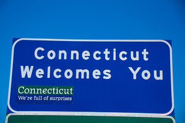 Wall Mural - Welcome to Connecticut Sign