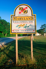 Wall Mural - Welcome to Maryland Sign