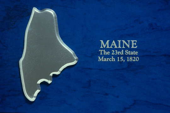 Silver Map of Maine