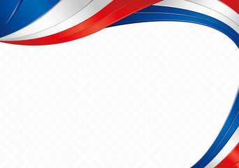Abstract background with shapes with the colors of the flag of France or Paraguay to use as Diploma or Certificate