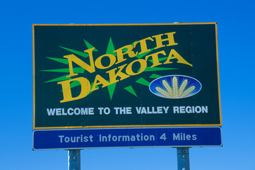 Wall Mural - Welcome to North Dakota Sign