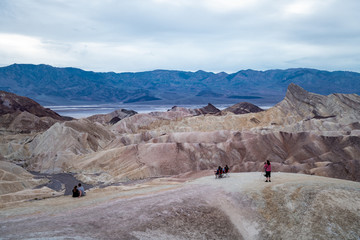 Zabriski Point in Death Valley National Park in California.