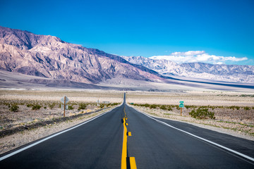 Empty Road in Death Valley, California.
