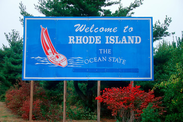 Wall Mural - Welcome to Rhode Island Sign