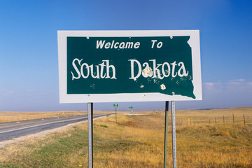 Wall Mural - Welcome to South Dakota Sign