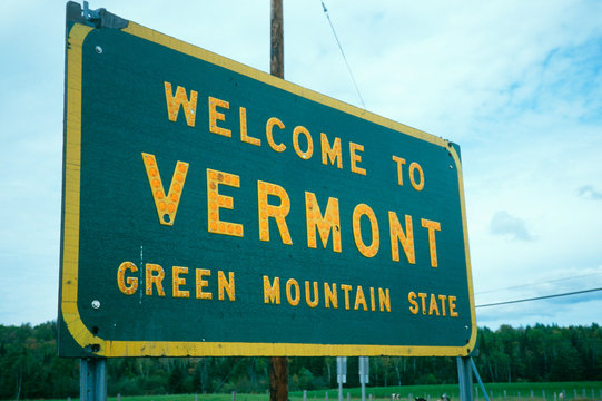 Welcome to Vermont Sign