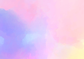 Grunge abstract vector background. Liquid texture. Light pink blue watercolor.