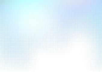 青いドットのハーフトーングラデーションデジタル背景