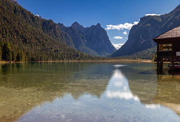 Toblacher See, Südtirol im Herbst
