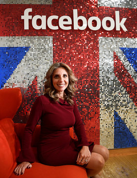 Mendelsohn, Facebook's EMEA VP sits for a portrait following a Reuters interview in London