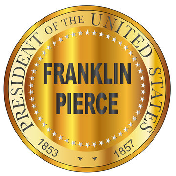 Franklin Pierce Gold Metal Stamp