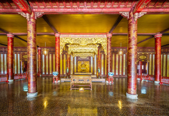 Throne room at Imperial Palace, Hue, Vietnam, Asia Fototapete