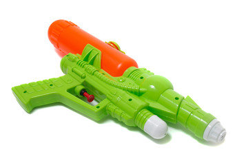 Colorful plastic water gun