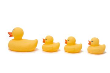 cute plastic yellow ducks