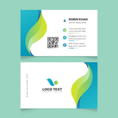 Modern Creative and Clean Business Card Template. Simple beautiful creative business card design vector illustration with gradient colors. Minimal Corporate Business card vector