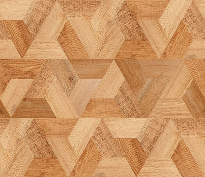 Light brown wooden floor with seamless pattern.