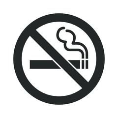 No smoking icon sign. Cigar, tobacco prohibition logo symbol. Vector illustration image. Isolated on white background.