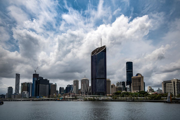 Brisbane cityscape in the capital of Queensland Australia
