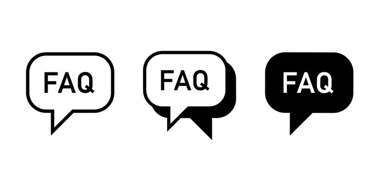 FAQ vector flat icon sign vector design.
