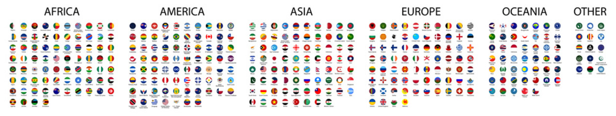 Flag of world. Vector icons Fototapete