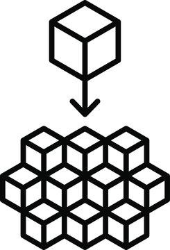 Microservices icon. vector