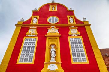 Bunte historische Fassade in Meppen im Emsland