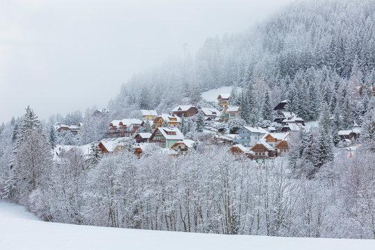 Bad Kleinkirchheim village in the snow, Carinthia, Austria, Europe