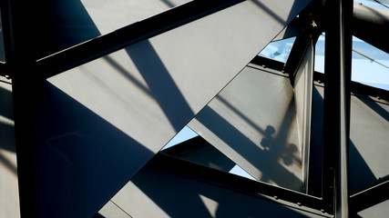 Abstract background architecture lines. modern architecture detail Fotomurales