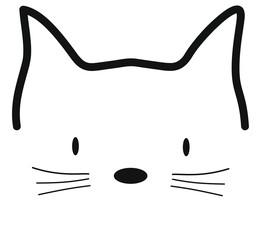 Meow cat vector illustration