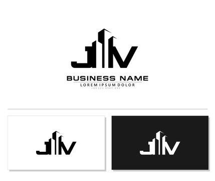 J V JV Initial building logo concept