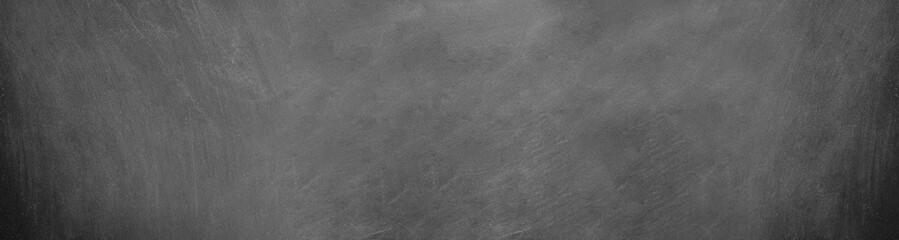 Fototapete - wide horizontal black board and chalkboard background