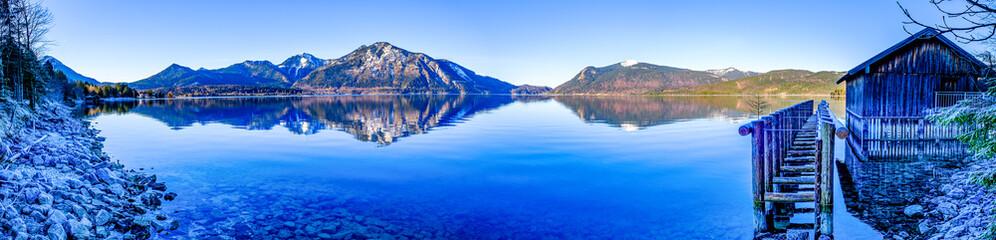 walchensee lake in bavaria Fototapete
