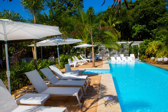 Pool of a Boutique Hotel in the Caribbean of Costa Rica close to Puerto Viejo