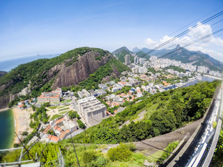 view from the top of Urca Hill ( Sugarloaf Mountain ) in Rio de Janeiro