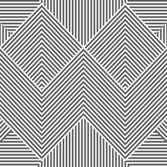 Vector seamless abstract geometric pattern - black and white striped texture. Endless linear background. Creative monochrome design