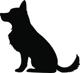 Silhouette of German Shepherd sitting