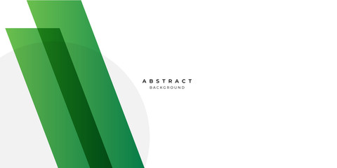 Simple green white abstract background geometry shine and layer element vector for presentation design. Suit for business, corporate, institution, party, festive, seminar, and talks.