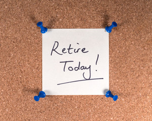 Wall Mural - Retire Today!