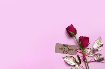 Fototapete - Valentines day flowers