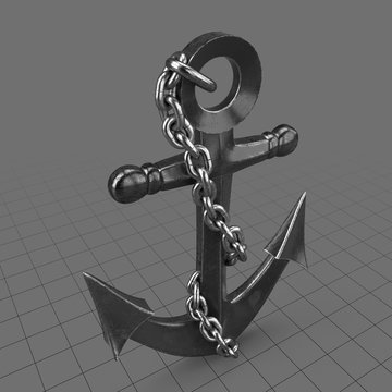 Wall decor anchor with chain