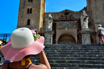 Basilica Cathedral of the Transfiguration. Cefalu Sicily Italy