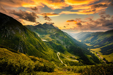 Canvas Prints Northern Europe View from Solkpass to the north, Austria