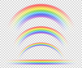 Vector isolated rainbow object, on transparent background, symbol of sexual minorities.