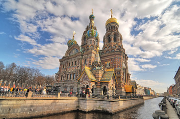 The Church of the Savior on Spilled Blood in Saint Petersburg, Russia.