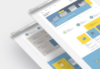 Agency Web Layout