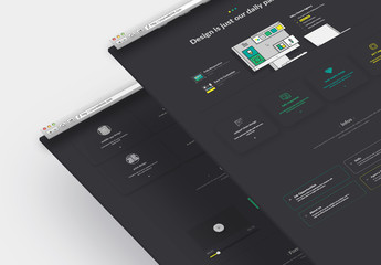 Dark Colorful Web Design Layout
