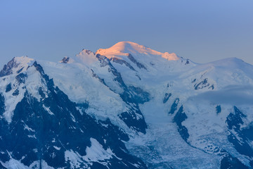 Wall Mural - Mont Blanc in sunrise, France