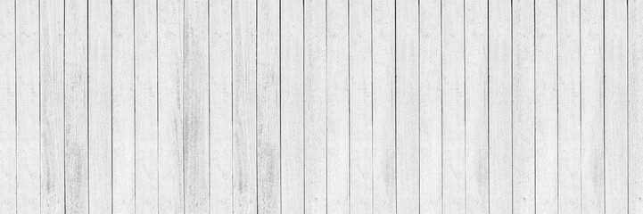 Photo sur Toile Bois horizontal white wood design for pattern and background