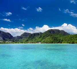 Beach and beautiful tropical sea. tropical beach